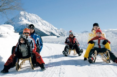 Tobogganing fun for the whole family